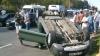 Accident la Ciocana. O maşină s-a răsturnat GALERIE FOTO