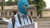 Protest cu cagule în faţa Ambasadei Rusiei la Chişinău VIDEO