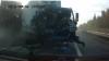 Un şofer a scăpat teafăr dintr-un accident pentru că nu avea cuplată centura de siguranţă VIDEO