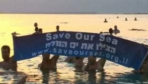 Acţiune inedită de salvare a Mării Moarte VIDEO