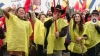 """Unioniştii au ajuns şi la Bucureşti: Participanţii la marş au scandat """"Basarabia e România"""""""
