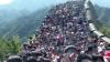 Marele Zid Chinezesc a fost luat cu asalt de mii de oameni