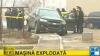 Maşina unui angajat al Serviciului Vamal a explodat azi dimineaţă pe strada Alba-Iulia