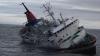 O navă de transport, cu 12 persoane  la bord, s-a scufundat în Marea Neagră