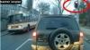 Troleibuz de pe ruta numărul 5 din Capitală, trece la culoarea roşie a semaforului (VIDEO)