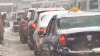 Trafic cu probleme în Capitală: Şoferii sunt nemulţumiţi de lucrările de deszăpezire efectuate de autorităţi