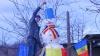 OM-GIGANT de zăpadă la Cimişlia. Află ce înălţime are (FOTO)
