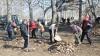 Frunzele din Chişinău nu vor mai fi strânse cu pătura şi ţolul. Primarul Chirtoacă vrea aspiratoare pentru a le aduna