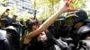 Proteste violente la Madrid: 15 persoane au fost reţinute, iar 14 poliţişti au fost răniţi