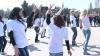 Studenţii din Bălţi au organizat un flashmob pentru a promova modul de viaţă activ