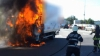 Camion în flăcări pe o stradă din Chişinău. DETALII