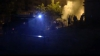 Două maşini în flăcări, pe una din străzile Capitalei VIDEO
