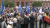 """(VIDEO) Sindicaliştii au ieşit la marş pe străzile Capitalei. """"L-am invitat pe Iurie Leancă să fie alături de noi"""""""