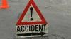 """(FOTO) Accident în capitală: Un şofer """"a cosit"""" câţiva copaci cu un BMW X5"""