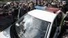 (FOTO) O maşină a Inspectoratului Naţional de Patrulare, făcută zob într-o intersecţie din capitală