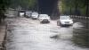 Străzi inundate, copaci căzuţi şi circulaţie blocată în capitală, în urma ploii de astăzi (FOTO)