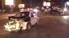 """(VIDEO) O altă maşină a Poliţiei, făcută zob în capitală. """"Au inclus girofarul cu puţin timp înainte de accident"""""""