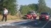 Grav accident de circulaţie pe traseul Chişinău-Străşeni. La faţa locului au venit pompierii (VIDEO)