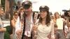 (VIDEO) Nuntă de bikeri în Moldova. Rockerul Sean Carr şi iubita sa, Merry Hill, şi-au jurat iubire chiar în centrul Chişinăului