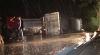 Accident pe traseul Chişinău-Hânceşti. Un camion cu zece tone de grâu s-a răsturnat lângă localitatea Fundul Galbenei (VIDEO)