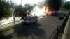 Şoferul microbuzului, care a luat foc la Ciocana, riscă o amendă. Ce spun martorii VIDEO