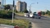 Accident cu implicarea unei maşini a Poliţiei, la o ieşire din Chişinău. GALERIE FOTO