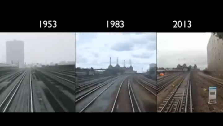 INEDIT: O călătorie cu trenul, filmată de trei ori în 60 de ani VIDEO