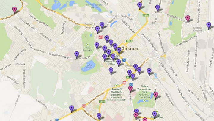 ACESTEA sunt intersecţiile din Chişinău, care vor fi monitorizate video (HARTĂ)