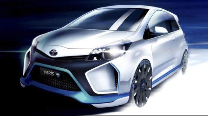 Toyota Yaris Hybrid R, prima schiţă oficială a celui mai performant hibrid al japonezilor