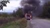Automobil în flăcări în oraşul Orhei. Incidentul a avut loc chiar în plină stradă VIDEO