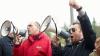 """Comuniştii au mers azi la """"revoluţie"""" cu troleibuzul şi, din nou, fără Voronin / VIDEO. FOTO"""