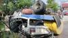 Accident TRAGIC la Lipcani! Şoferul unui camion a murit, din cauza frânelor care au cedat (GALERIE FOTO)