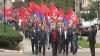 """Comuniştii au început """"revoluţia de catifea"""" cu un protest de câteva minute şi fără Voronin (VIDEO)"""