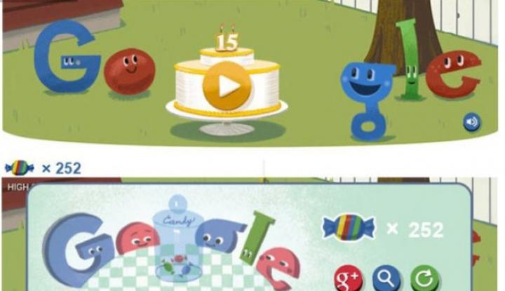 Google sărbătoreşte 15 ani de existenţă printr-un Doodle interactiv