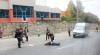 Accident la intersecţia străzii Ion Creangă cu Belinski. O femeie a fost lovită de un microbuz de linie