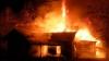 O grădiniţă din raionul Căuşeni a fost mistuită de flăcări noaptea trecută (VIDEO)