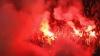Derby incendiar în Serbia! Fanii echipei Partizan au dat foc scaunelor cu materiale pirotehnice (VIDEO)