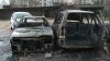 Incendiu într-o parcare din Bălţi. Două maşini au ars complet până la venirea pompierilor VIDEO