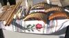 Instrumente muzicale, covoare ţesute manual şi ii, prezentate în cadrul unei expoziţii organizate de hramul oraşului Orhei VIDEO