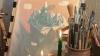 Bucuriile vin din lumea culorilor. Un pictor a ales un mod inedit de a ajuta un copil să se bucure de magia Crăciunului