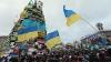 """Veselie în centrul Kievului! Protestatarii ucraineni dansează pe ritmurile piesei """"Hora din Moldova"""" (VIDEO)"""