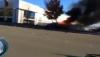 IMAGINI VIDEO cu mașina în flăcări în care a decedat Paul Walker, actorul din Fast&Furious