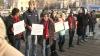 Protest la ultima şedinţă a Consiliului municipal Bălţi din acest an. Care a fost mesajul primarului pentru manifestanţi (VIDEO)