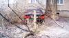 Primele efecte ale chiciurii. Mai mulţi copaci din capitală s-au prăbuşit peste maşini (FOTO/VIDEO)