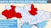 Harta localităţilor din Ucraina unde manifestanţii au reuşit să ocupe clădirile administraţiilor locale