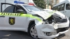 O maşină a Inspectoratului Naţional Patrulare, implicată într-un accident rutier în sectorul Ciocana al capitalei (VIDEO)