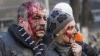 Imagini care pot afecta emoţional! Cum arată un parc din Kiev după confruntarea dintre Berkut şi protestatari (VIDEO)
