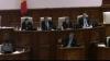 Fracţiunea PL a devenit PLR. Mihai Ghimpu a blocat tribuna Parlamentului, în semn de protest