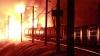 Un tren marfar a deraiat şi a luat foc în Rusia: Circa 700 de oameni au fost evacuaţi de urgenţă