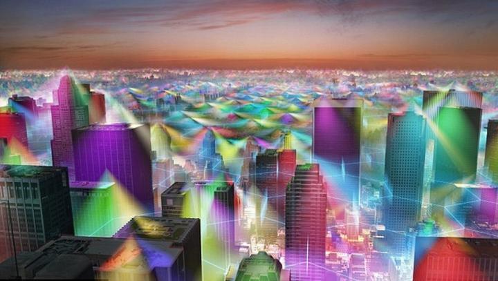 Cum ar arăta oraşele dacă am putea vedea semnalele de telefonie mobilă (FOTO)